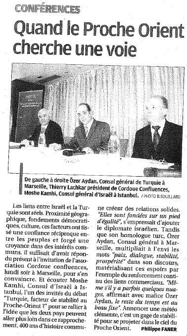 Journal La Provence / édition du mercredi 9 décembre 2009