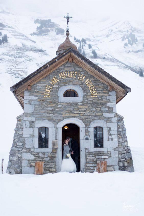 Mariage sous la neige!! Source Pinterest