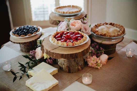 Sublimes tartes pour un mariage! Source Pinterest