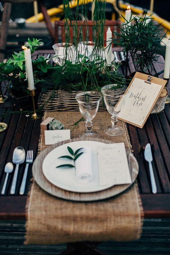 Décoration de table de mariage - Source Pinterest