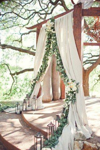Magnifique arche de cérémonie - Source Pinterest