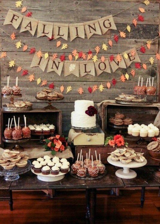 Candy bar pour un mariage automnale