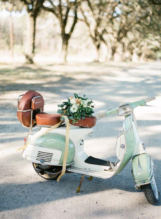 Scooter pour un mariage original