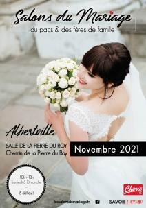 Les salons du Mariage du PACS & des fêtes de famille à Albertville Novembre 2021