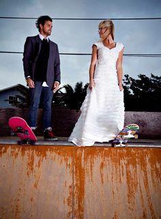 Des mariés qui ont décidé de faire le grand saut ensemble !!