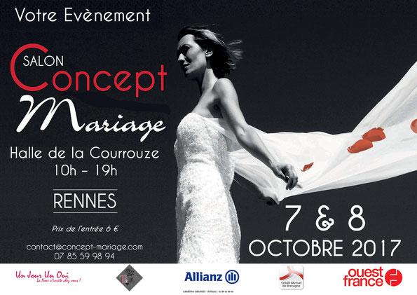 Salon Concept Mariage de Rennes les 7 et 8 Octobre 2017