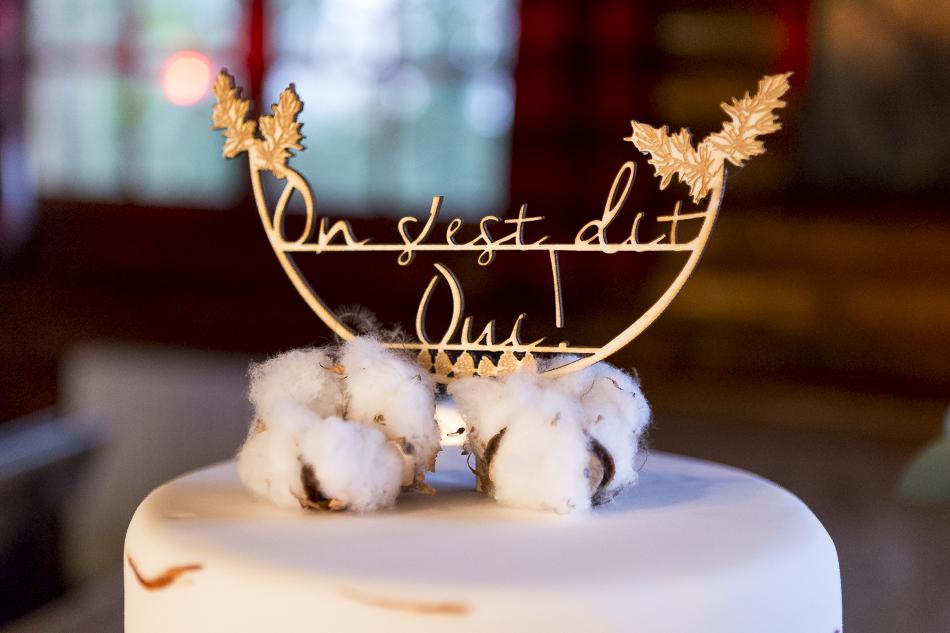 Wedding cake topper en découpe de bois laser sur-mesure (Les Spirales d'Elise)