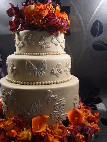 Automne gâteau de mariage wedding cake