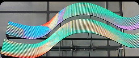 Гибкие светодиодные экраны