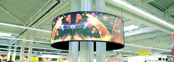 светодиодные экраны в торговом центре