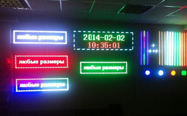 размеры светодиодных экранов