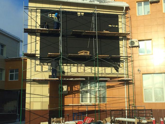 Уличный светодиодный экран на стену