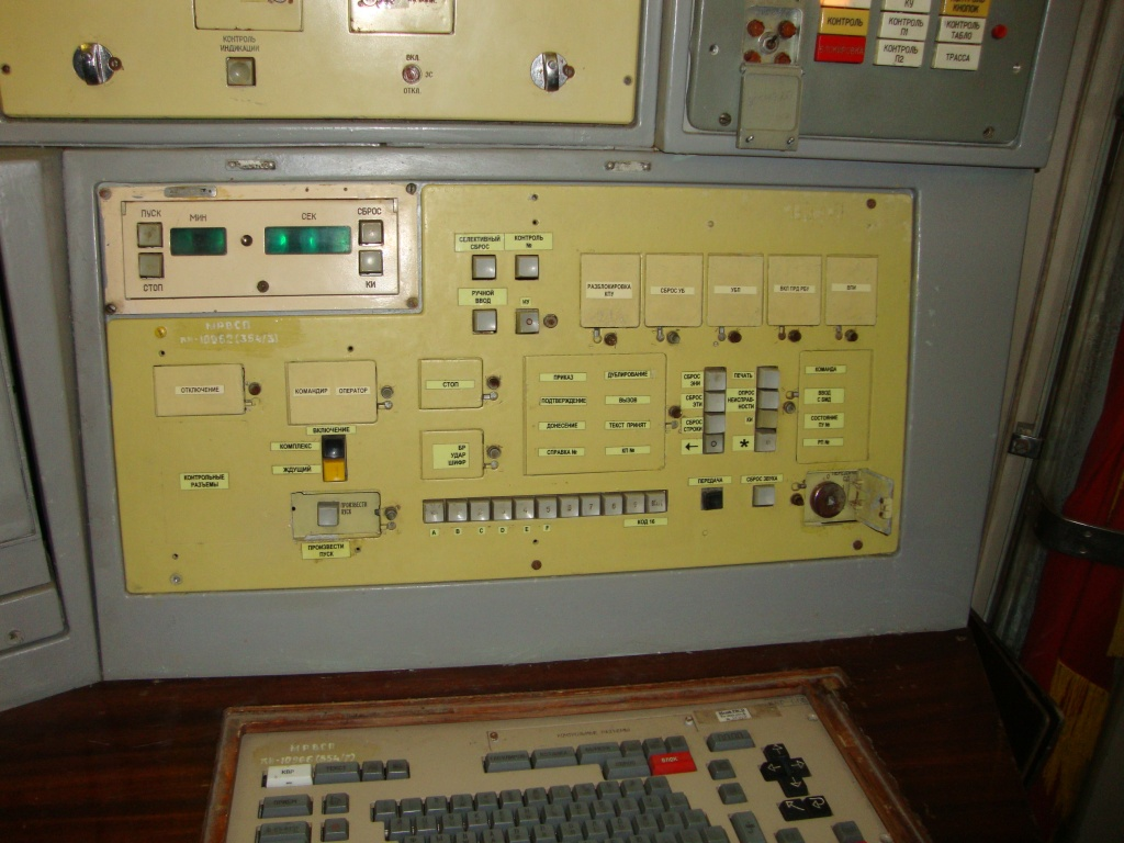 Missile launch control panel
