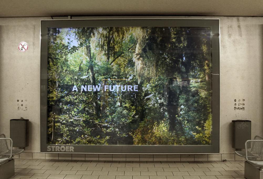 """""""Forest Dream"""" - Fotoinstallation, Neumarkt, Köln von Ellen Bornkessel, Installationsfoto: Ellen Bornkessel"""