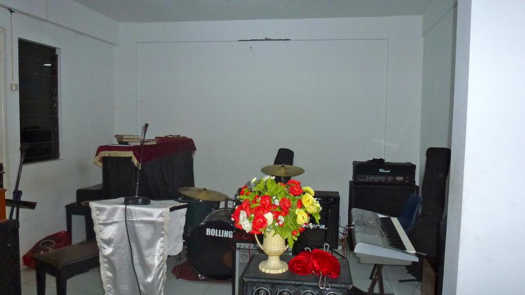 Musikinstrumente der Kirche.