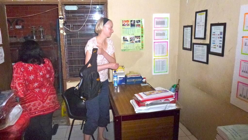 Das Büro der Projektkoordinatorin.