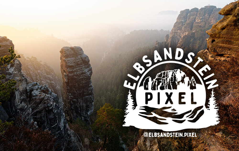 Logoentwicklung für Elbsandstein Pixel