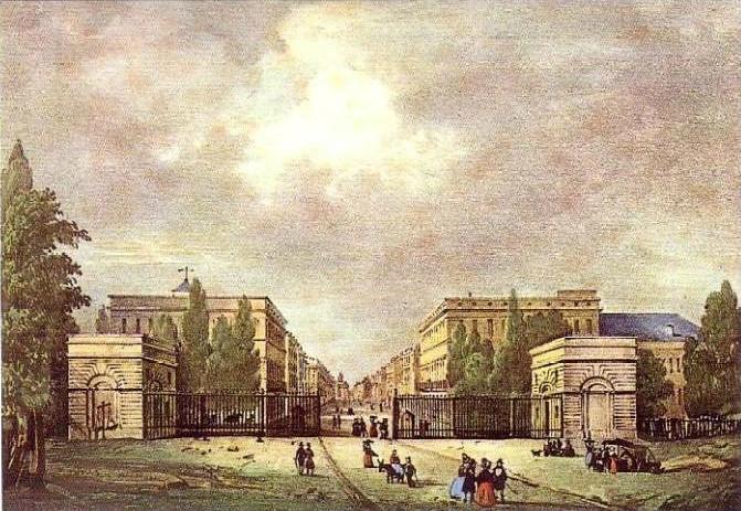 l'hôtel Meeûs, rue Royale (Porte de Schaerbeek)