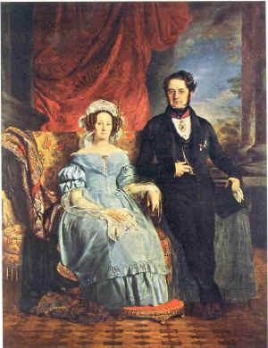 Ferdinand-Philippe Comte de MEEÛS et son épouse Anne Marie MEEÛS