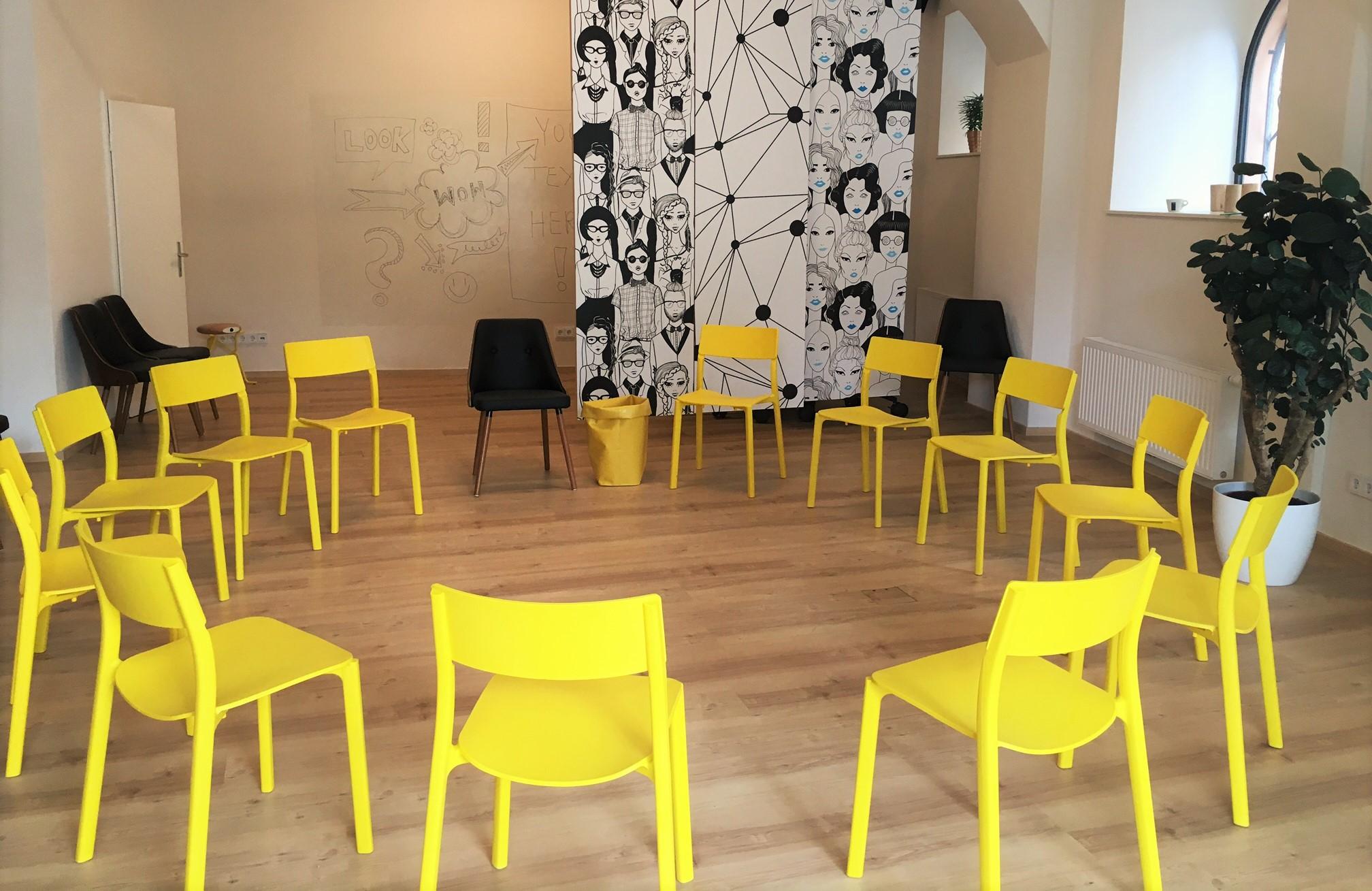 Raumgestaltung Gruppensitzung