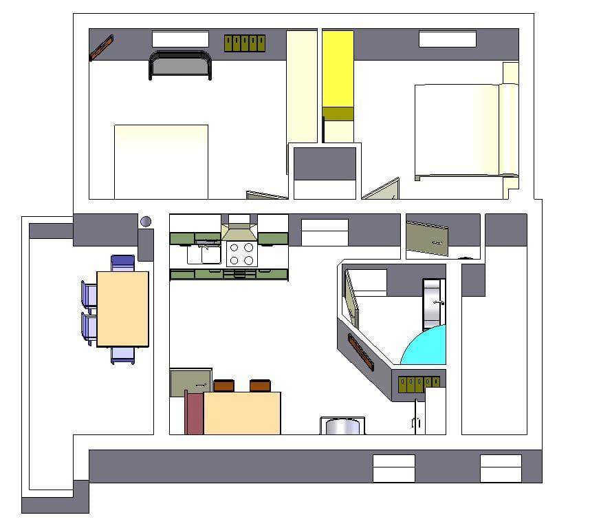 Grundriss Appartement Almrausch