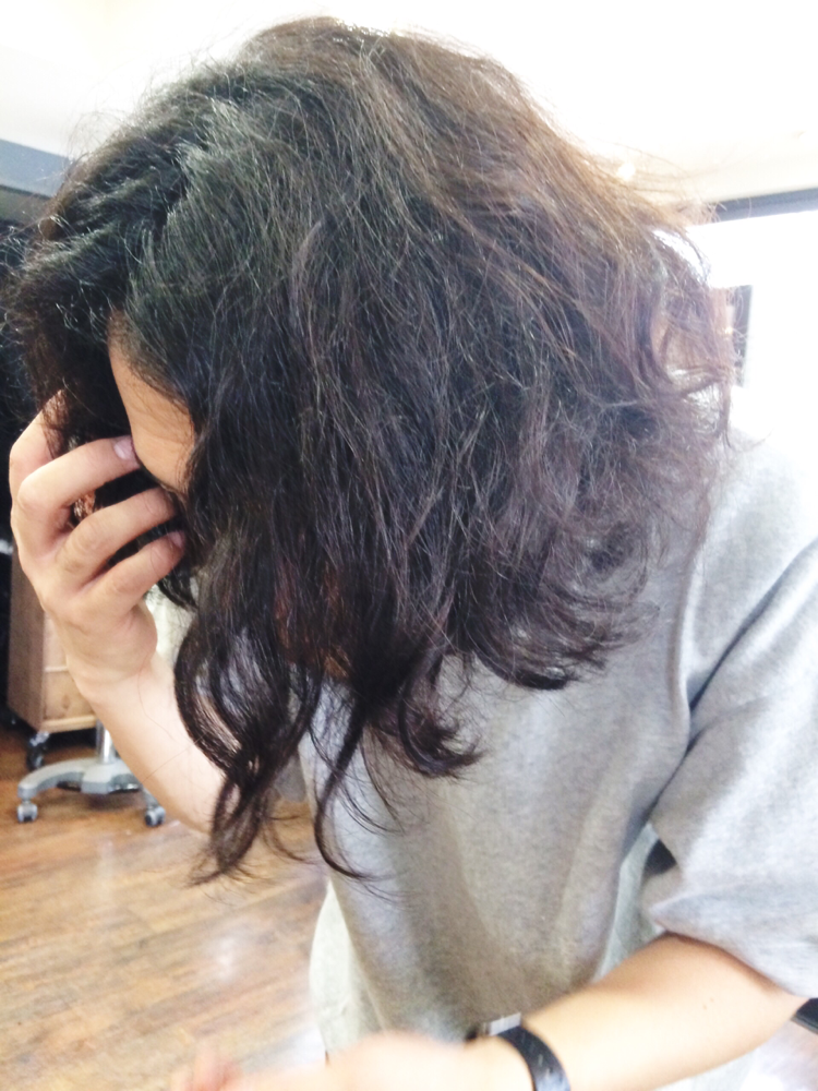 リアルくせ毛です、いやマジで!!!