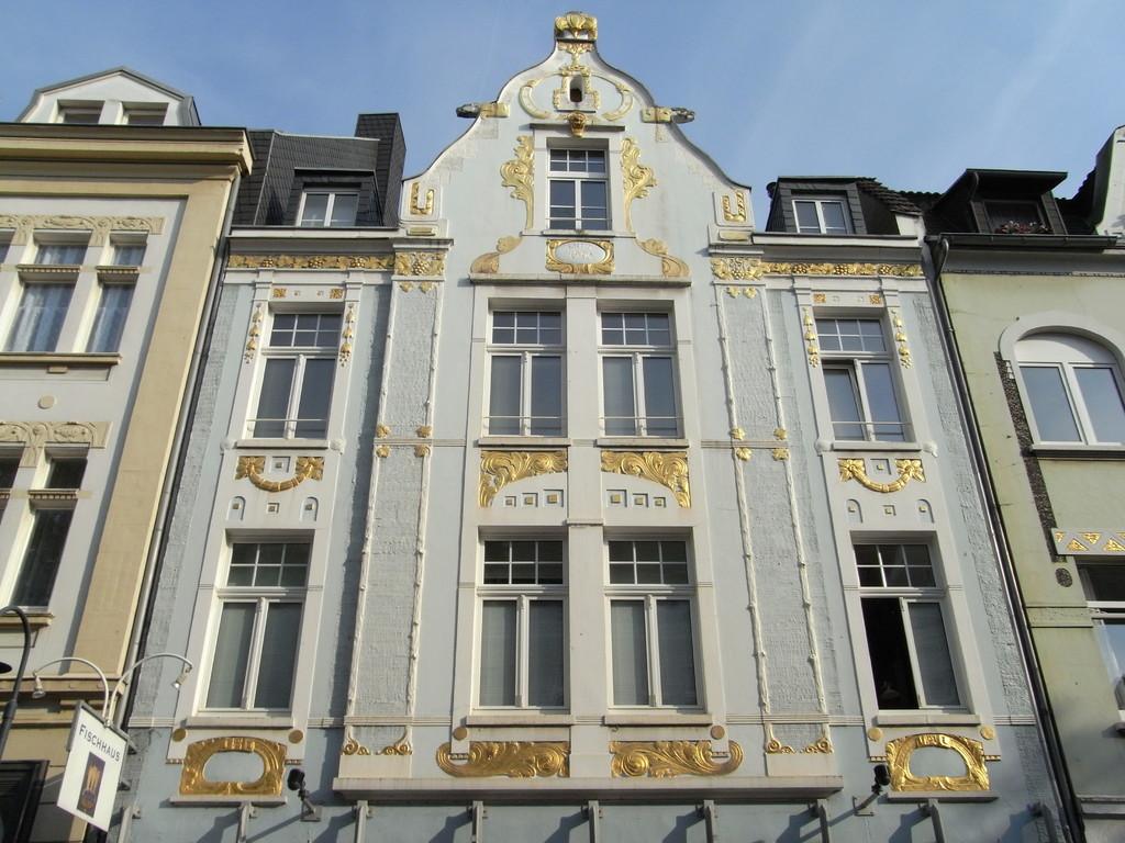 Häuserfassade in der Altstadt von Leverkusen