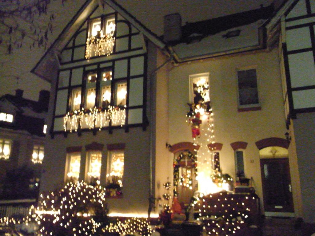 Geschmückte Häuser in Leverkusen