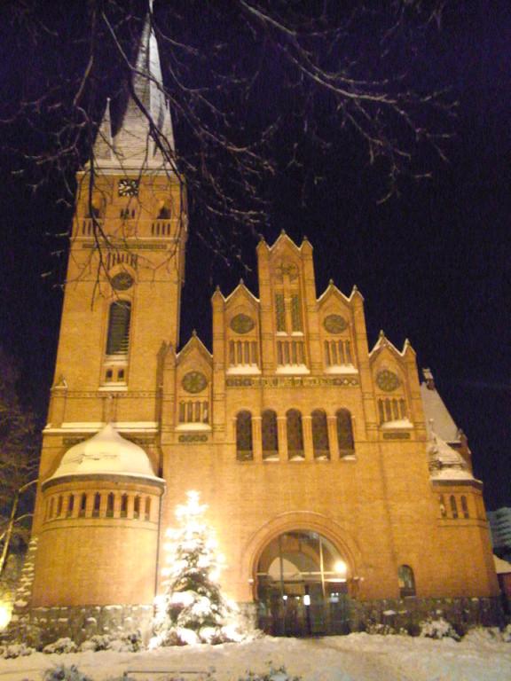 Evangelische Christuskirche im Zentrum in Leverkusen-Wiesdorf