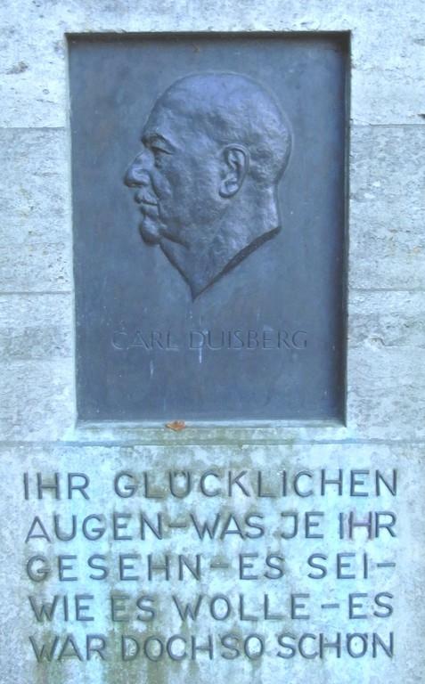 Grabinschrift Carl Duisberg