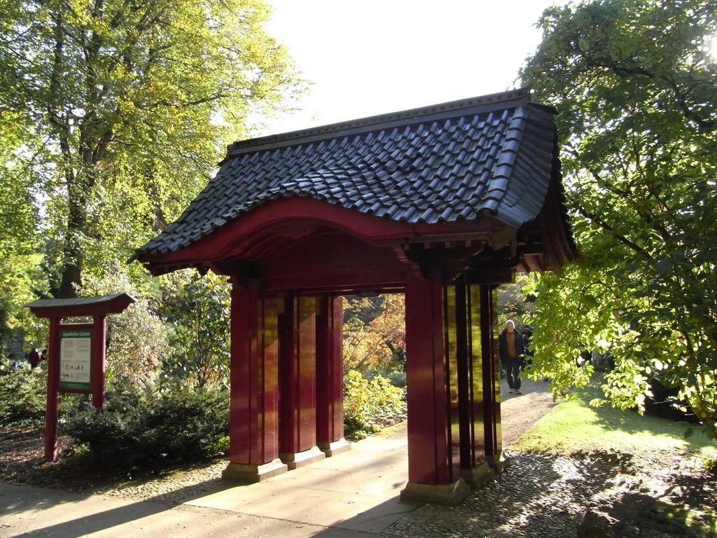 Eingang zum Japanischen Garten des Bayerwerkes