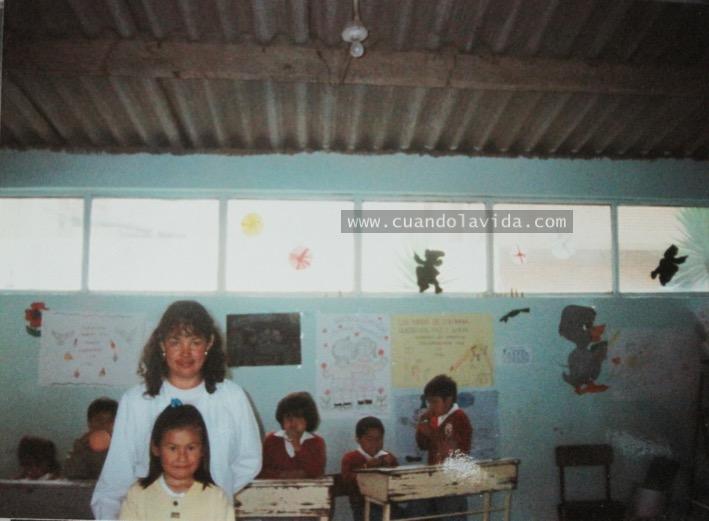 Milena Cuadrado. Gracias por tu ternura en mi infancia. 1997