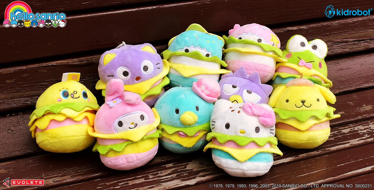 Hello Sanrio Plush Burger Charms Kidrobot Keroppi 2//12
