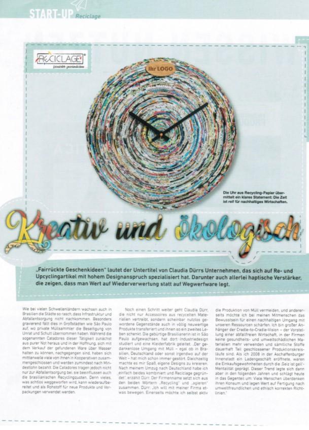 Start-Up Magazin, Reciclage, recycelte Werbegeschenke, upcycling Taschen, umweltfreundliche Werbung