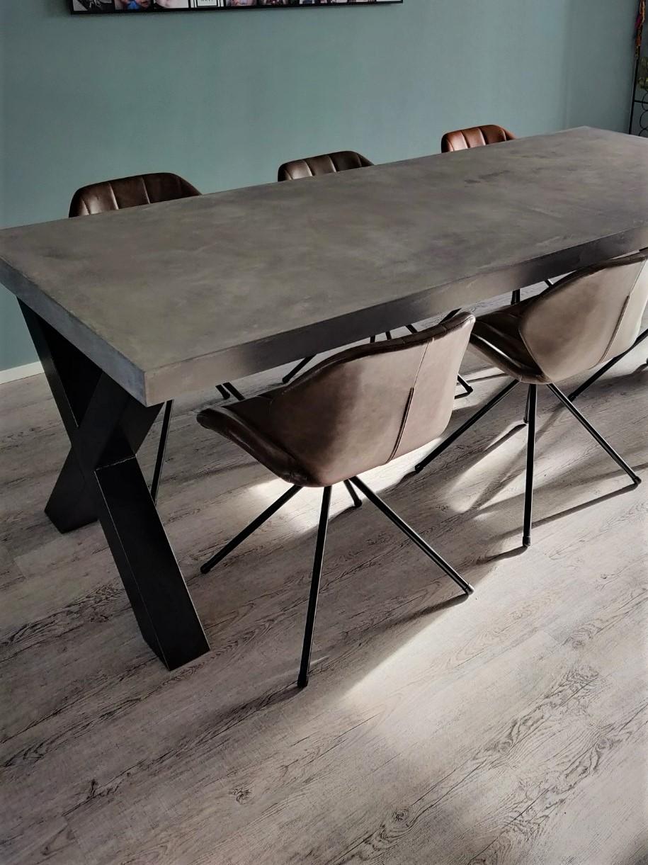 Verrassend Beton cire tafel - De website van stevigetafels! RT-23