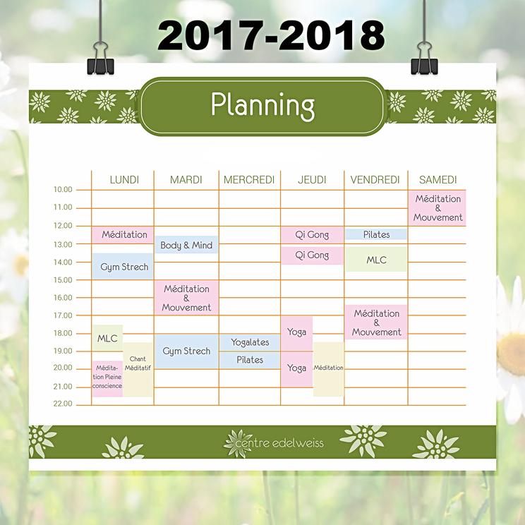 Planning d'activité 2016 - 2017
