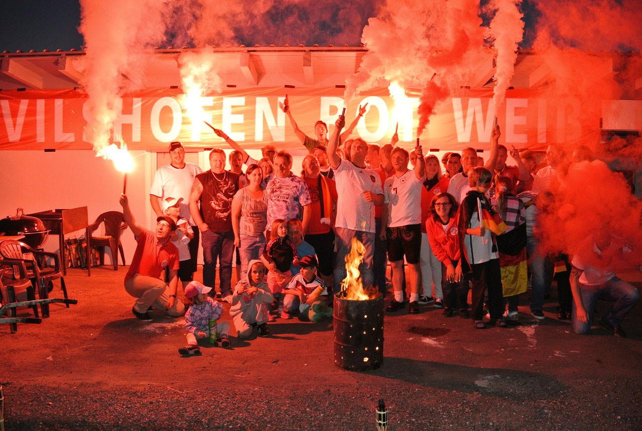 Unser Grillfest mit Public Viewing zur WM 2014
