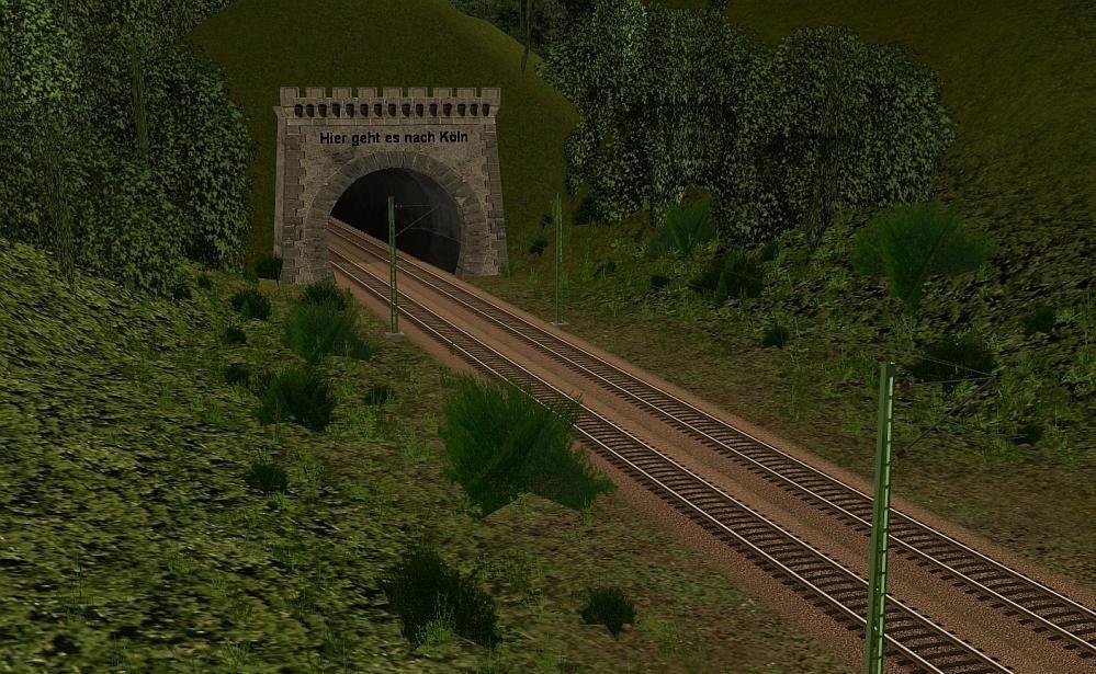 Richtung Köln ehem. Tunnel Horrem