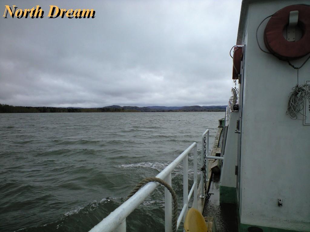 渡船から見た波の状況