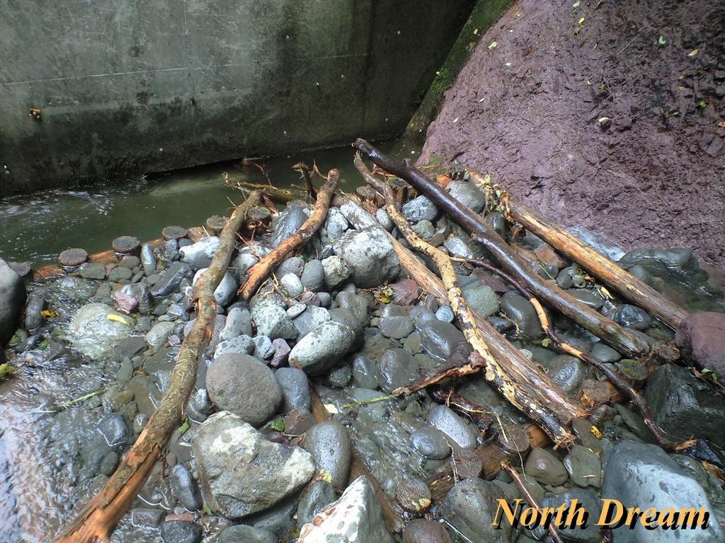 魚道1 魚道出入口に流木が刺さっていた とどめは次の写真