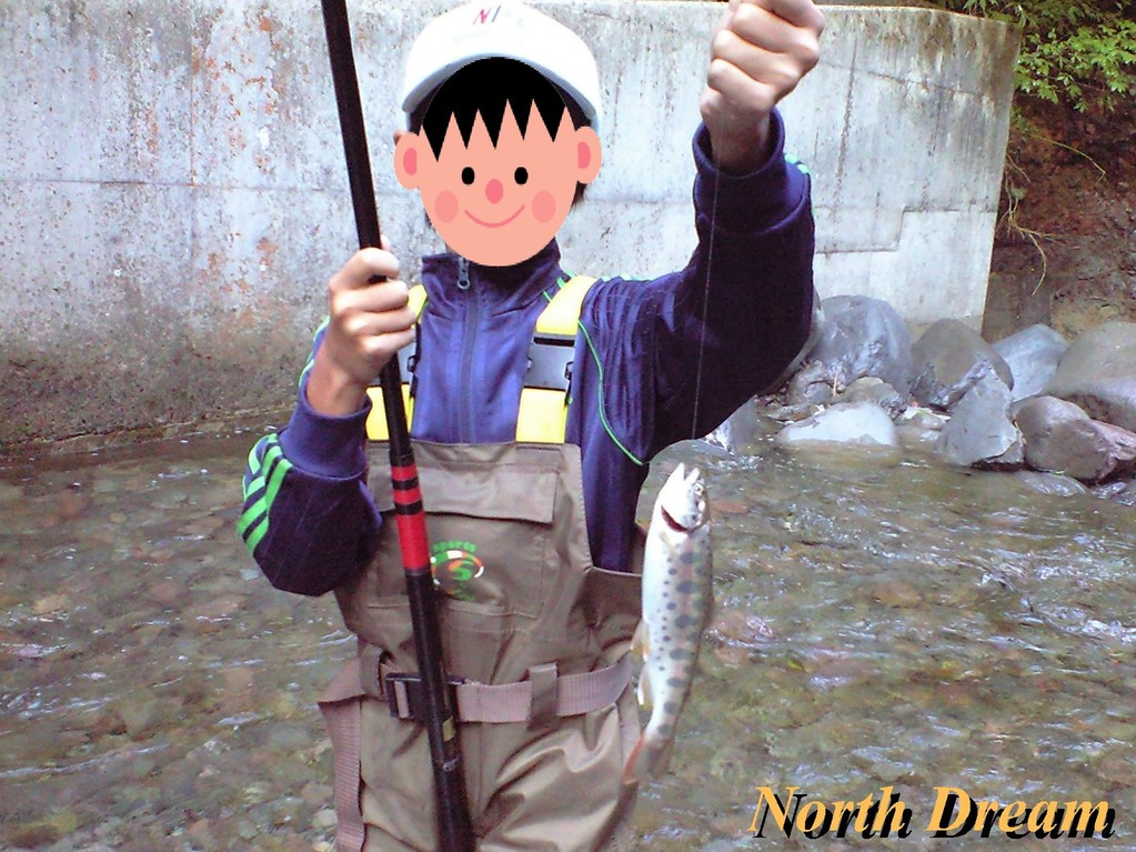 餌釣りで釣った山女魚