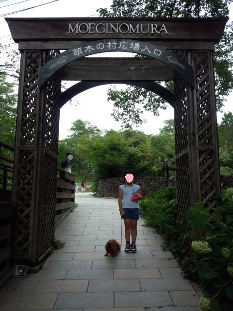 昔はなかった萌木の村のお洒落なゲート