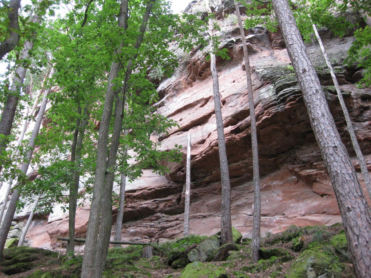Aufstieg zum Fels