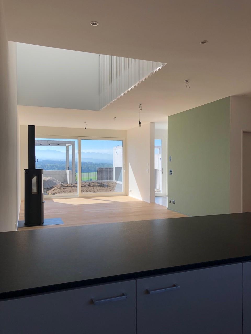 Hausmatte Alpensicht von Küche