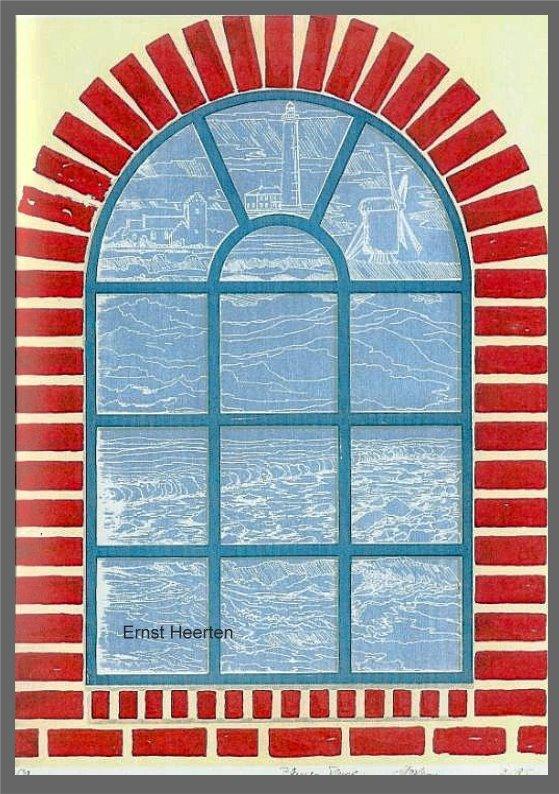 2.14 - Blaues Fenster - Dänemarkimpressionen / 230,- € (Siebdruck)