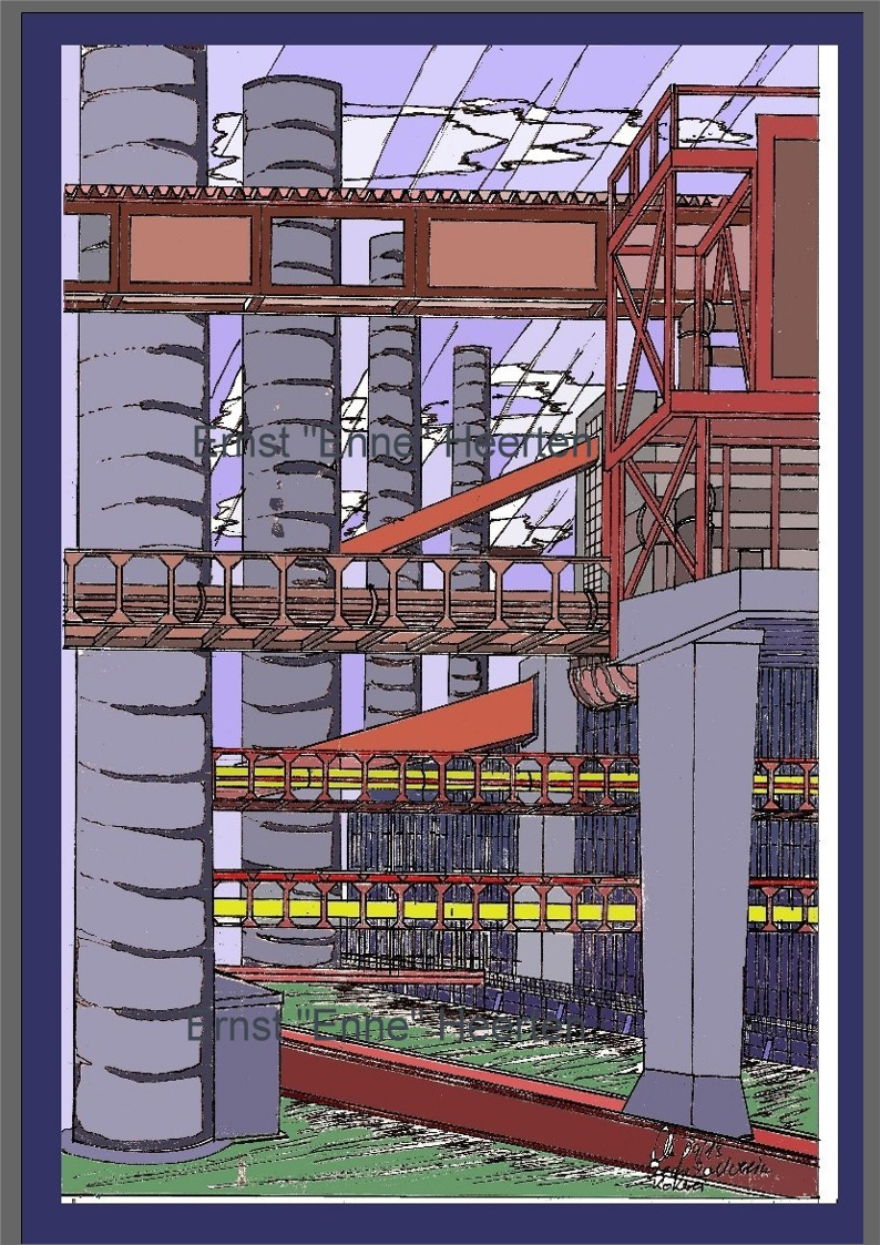 1.4. - Essen Zeche Zollverein - Motiv III / 150,- €