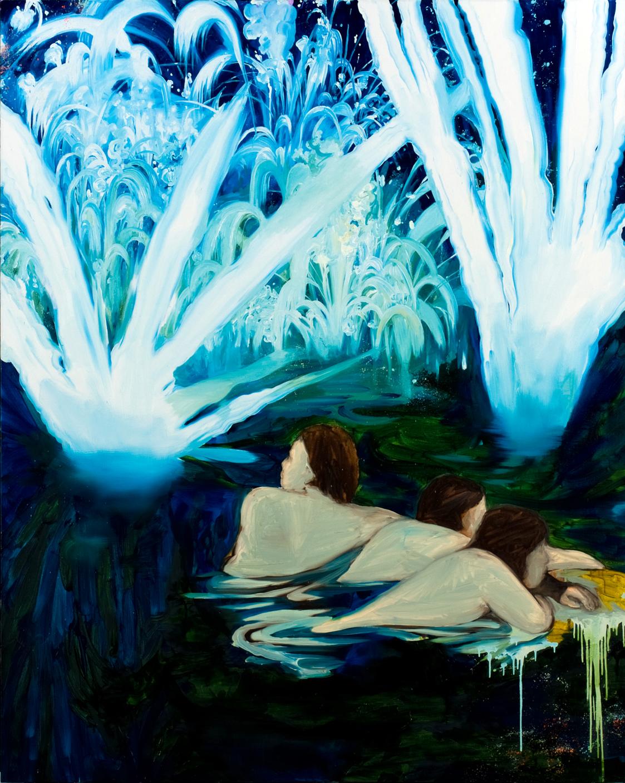 すべての夜のために2, oil on canvas, 227.3×181.8cm,2008