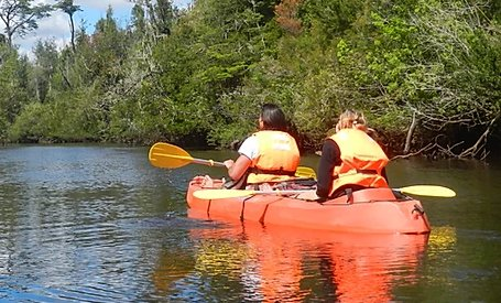 Tour en kayak en Ancud Chiloé Rio San Antonio