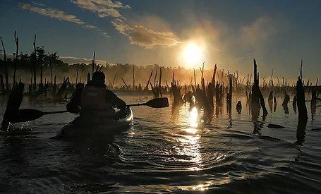 Tour en kayak en Chiloé Ancud Rio Chepú