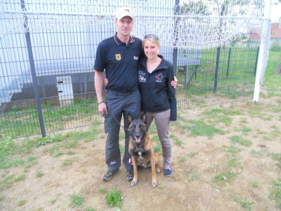 Thomas Groß mit Sporhund Arek vom Hessenauer Kreuz und ich